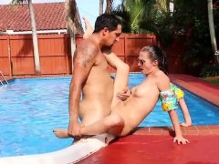 Black girl teen big ass and tit Swimming In Semen