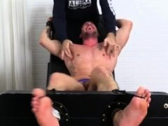 Gay male with shaved legs Casey More Jerked & Tickled
