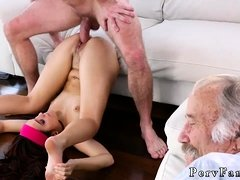 Vintage dad fuck companion's daughter and mother eats
