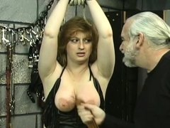 Stripped chicks roughly playing in bondage xxx episode scene