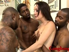 Marley Blaze asshole rammed by black men in many poses