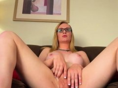 Spex tgirl wanks off and shows her asshole