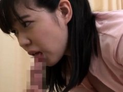 Japanese MILF in blowjob action in the office