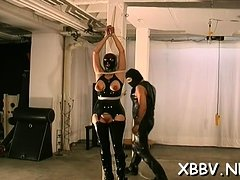 Excited woman gets tits castigation xxx in harsh bdsm clip