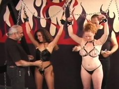 Undressed chicks roughly playing in bondage xxx clip