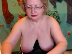 Blonde Busty Mature Fingering Wet Pussy On Webcam