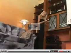 Blonde Flame Fucked on Sofa