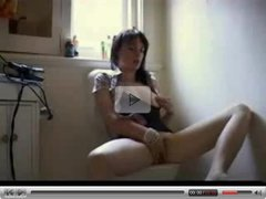 fingering teen in bathroom