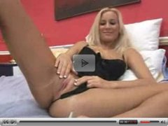 Blonde Masturbating While Boyfried Plays with Himself