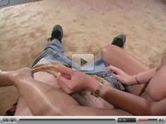 Pantyhosed Handjob cum all over legs ST69