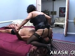 Fleshly woman facsitting hubby in real dilettante fetish xxx