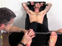 Gay male foot job movie and hands fetish porn xxx Officer