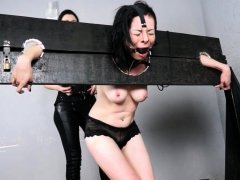 Wooden stock whipping and latina punishment