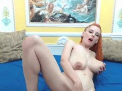 Skinny Redhead With Big Natural Tits Full Of Milk