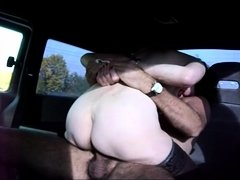 Mature amateur wife sucks and fucks outdoor