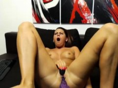 Pov slut tit fuck and blowjob toying her pussy hard