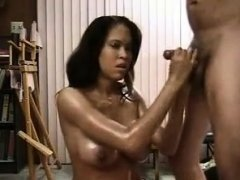 Big Titty Ebony Taking Cum On Boobs And Sucked
