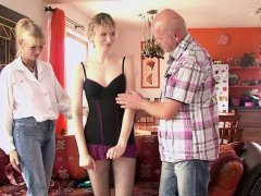 Mature couple threesome with his girlfriend