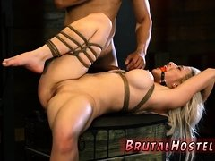 Bondage torment first time Big-breasted blonde hottie