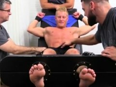 Hot male feet jerking and young guy masturbating with gay