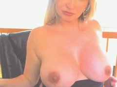 Blonde babe with Big Boobs Swallow cum