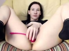 Young Pale Virgin Teen Fucks Her Pussy