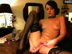 Hot Cam Girl Masturbate On Webcam
