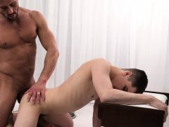MormonBoyz - Daddy Fucks Twink Bareback In Office