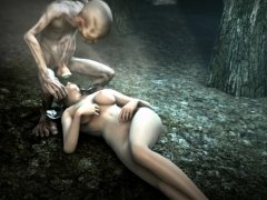 Gollum finds a slut in the forest and fucks her
