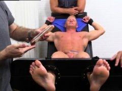 Men kissing feet and gay male ball foot crush Johnny Gets
