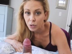 Mom nylon feet tease Cherie Deville in Impregnated By My