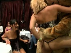 Real cfnm wives deepthroating strippers dick