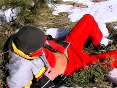 Male in gay porn film star nude Roma Smokes In The Snow