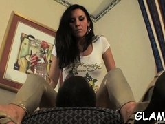Sub slave gets whipped hard till arse red by female-dom