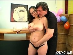 Horny old and young sex with playgirl taking the ramrod hard
