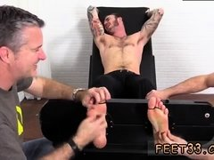 Fucking and foot tickling young gay twinks Officer