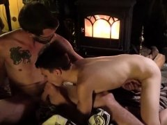 Gay sex shy boy cums hard first time Dad Family Cabin
