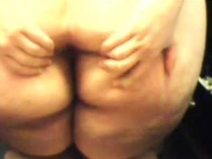 BBW Girl Masturbating On Skype
