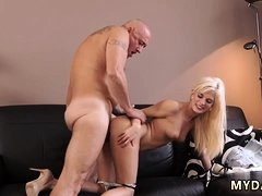 Step daddy creampie Horny blond wants to attempt someone