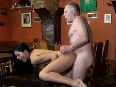 DADDY4K. Old dad seduces beautiful brunette while son...