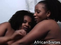 Fat african lesbians please their nice wet pussies