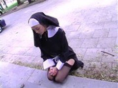 Nun drinks piss