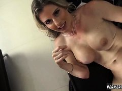 Russian mom fuck in kitchen This MILF not only knows what
