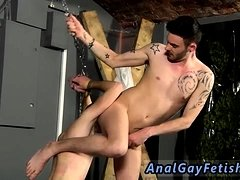 Nude male bondage video gay first time Slave Boy Fed Hard