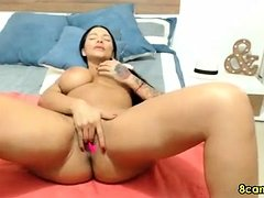 Big Boobs MILF fingering her wet pussy