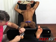 Piss on my boy feet gay Mikey Tickle d In The Tickle Chair