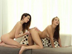 Show me your nails - lesbian scene with Candy Sweet and