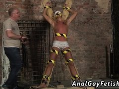 Male bondage gay free movies Slave Boy Made To Squirt