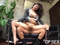 This beautiful babe loves to fuck in the office