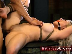 Brutal ass punishment Big-breasted blonde beauty Cristi